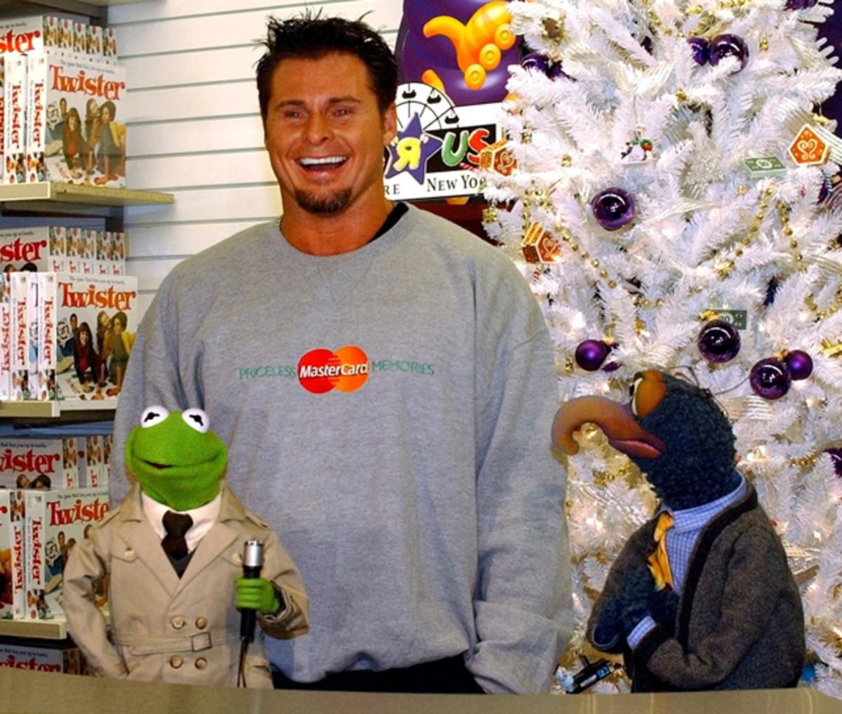 Kermit the Frog, Jason Giambi and Gonzo