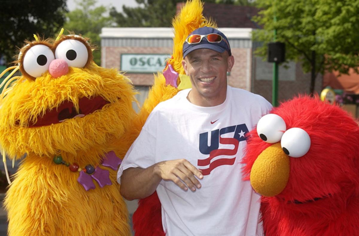 Zoe, Jason Kidd and Elmo