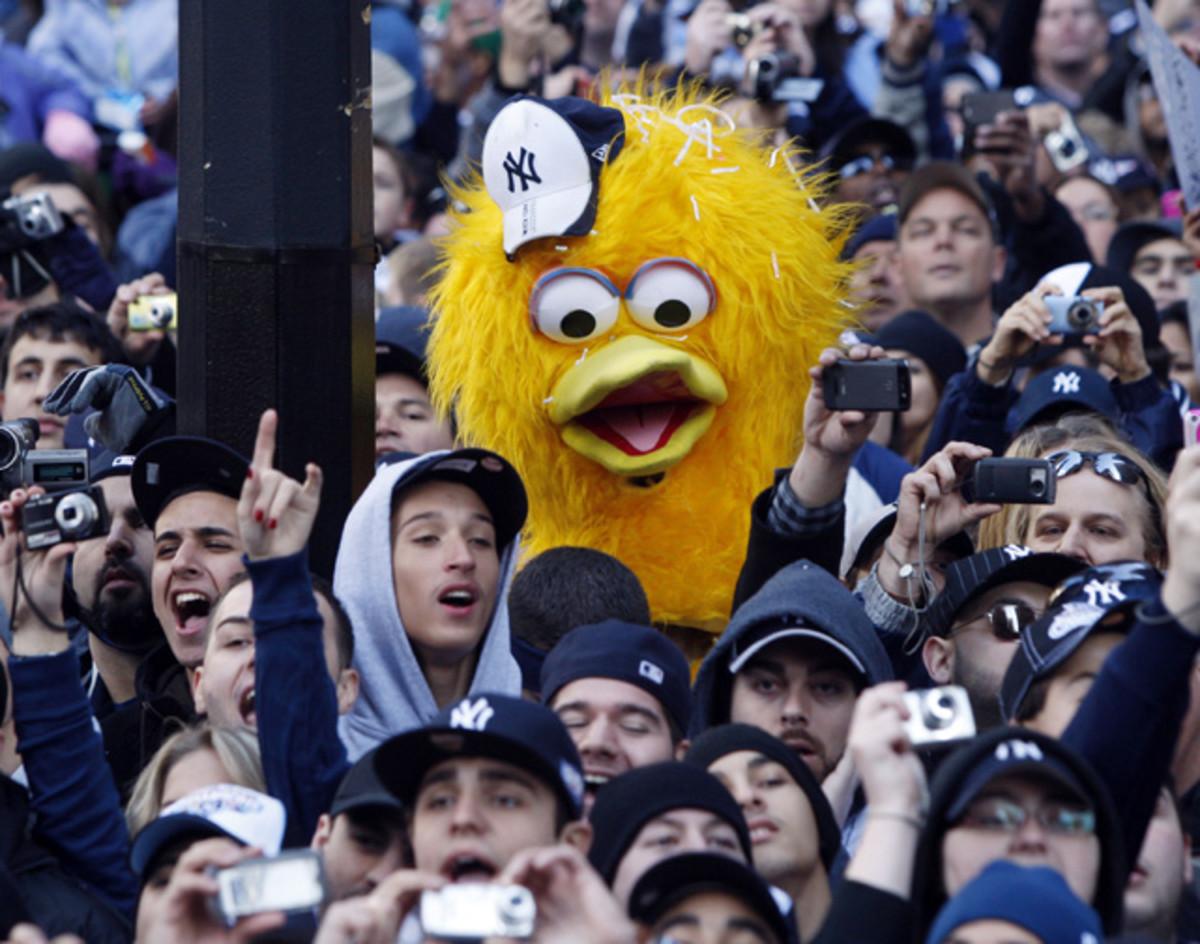 Big Bird and Yankees Fans
