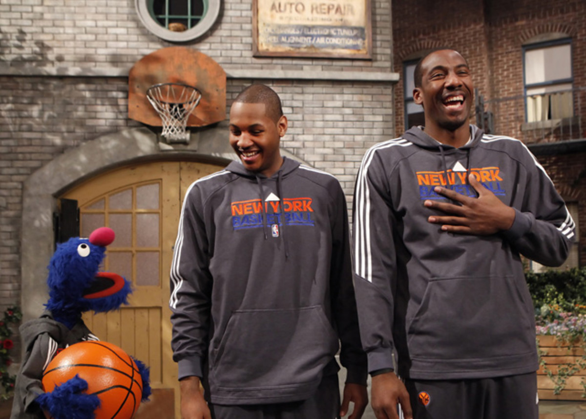 Grover, Carmelo Anthony, Amar'e Stoudemire