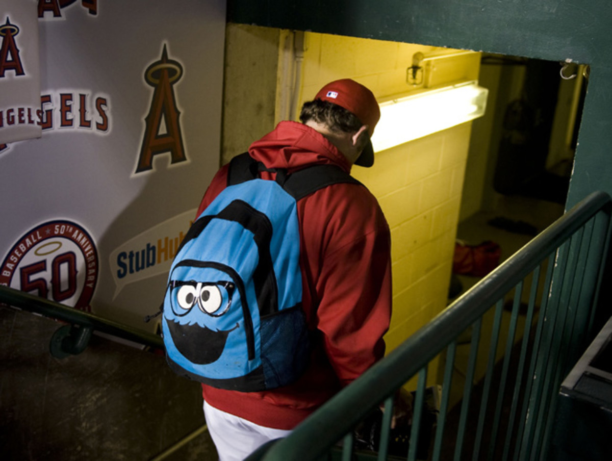 Bobby Cassevah and Cookie Monster backpack