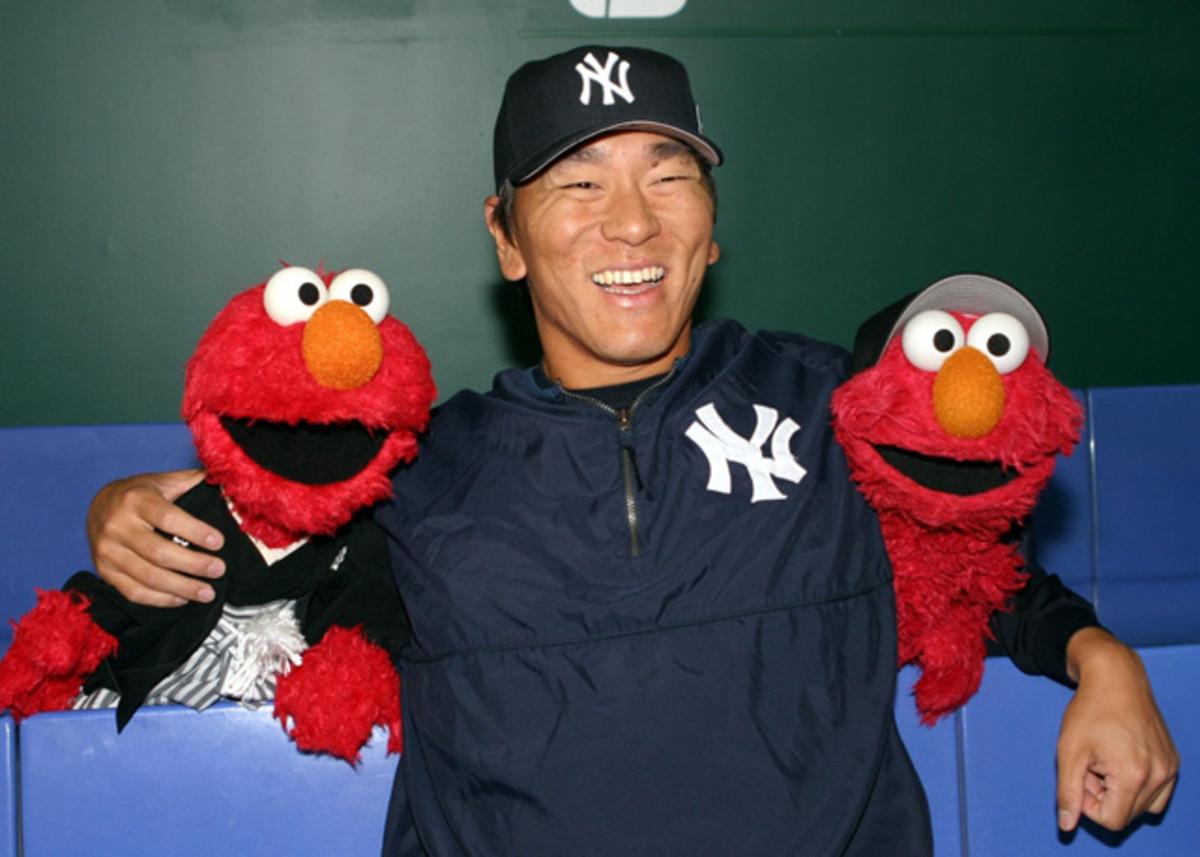 Hideki Matsui and Elmo