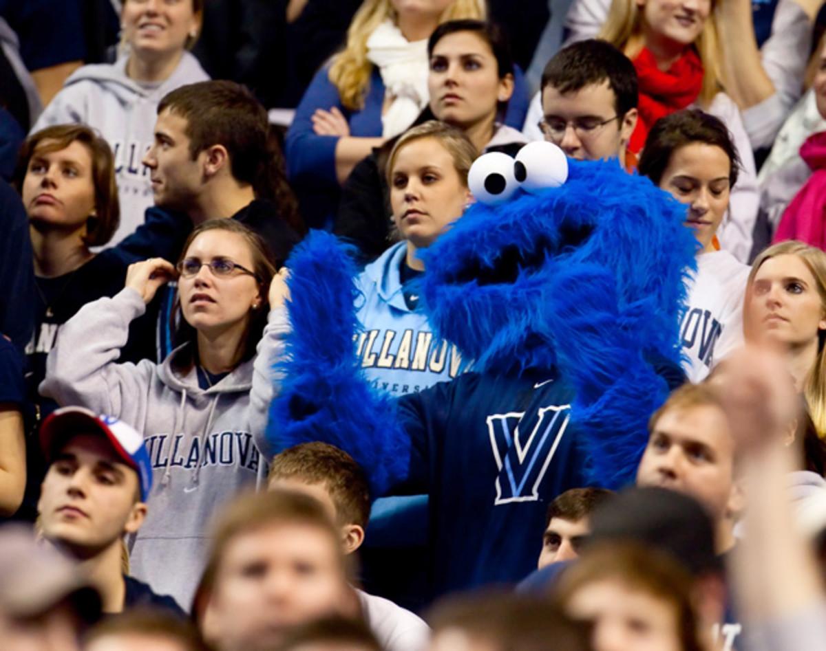 Cookie Monster and Villanova Fans