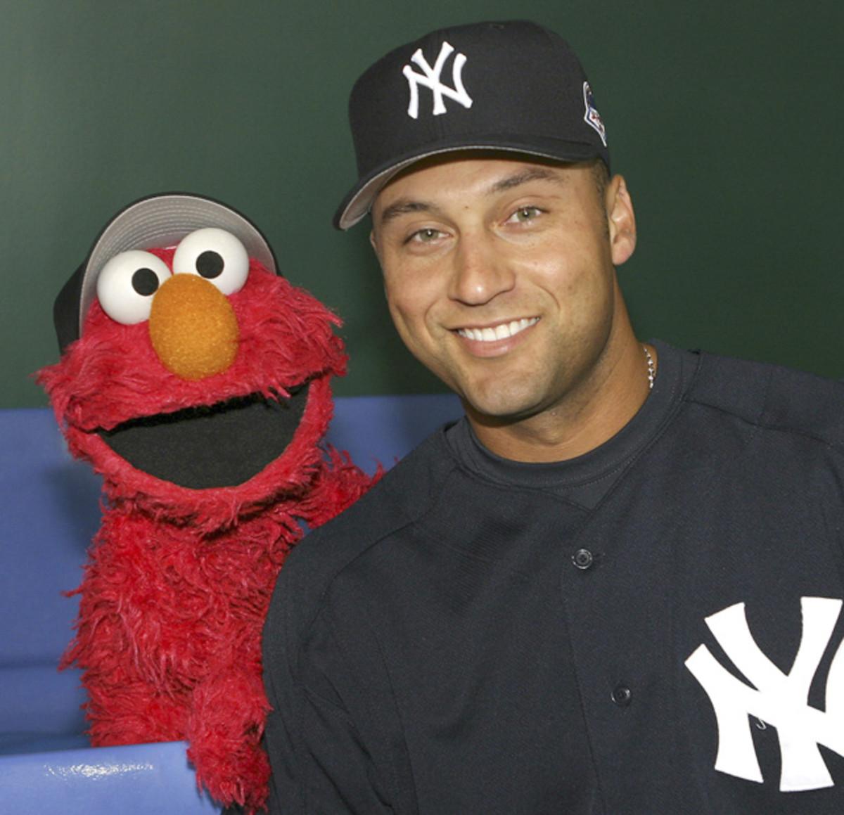Derek Jeter and Elmo