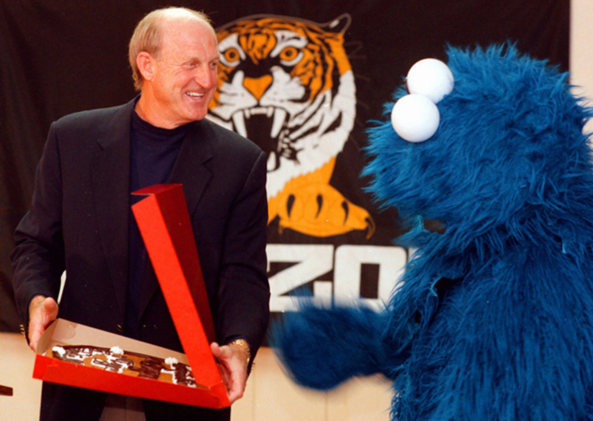 Norm Stewart and Cookie Monster