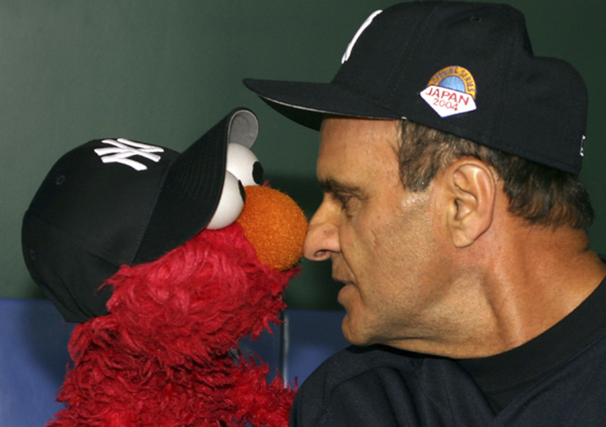 Joe Torre and Elmo