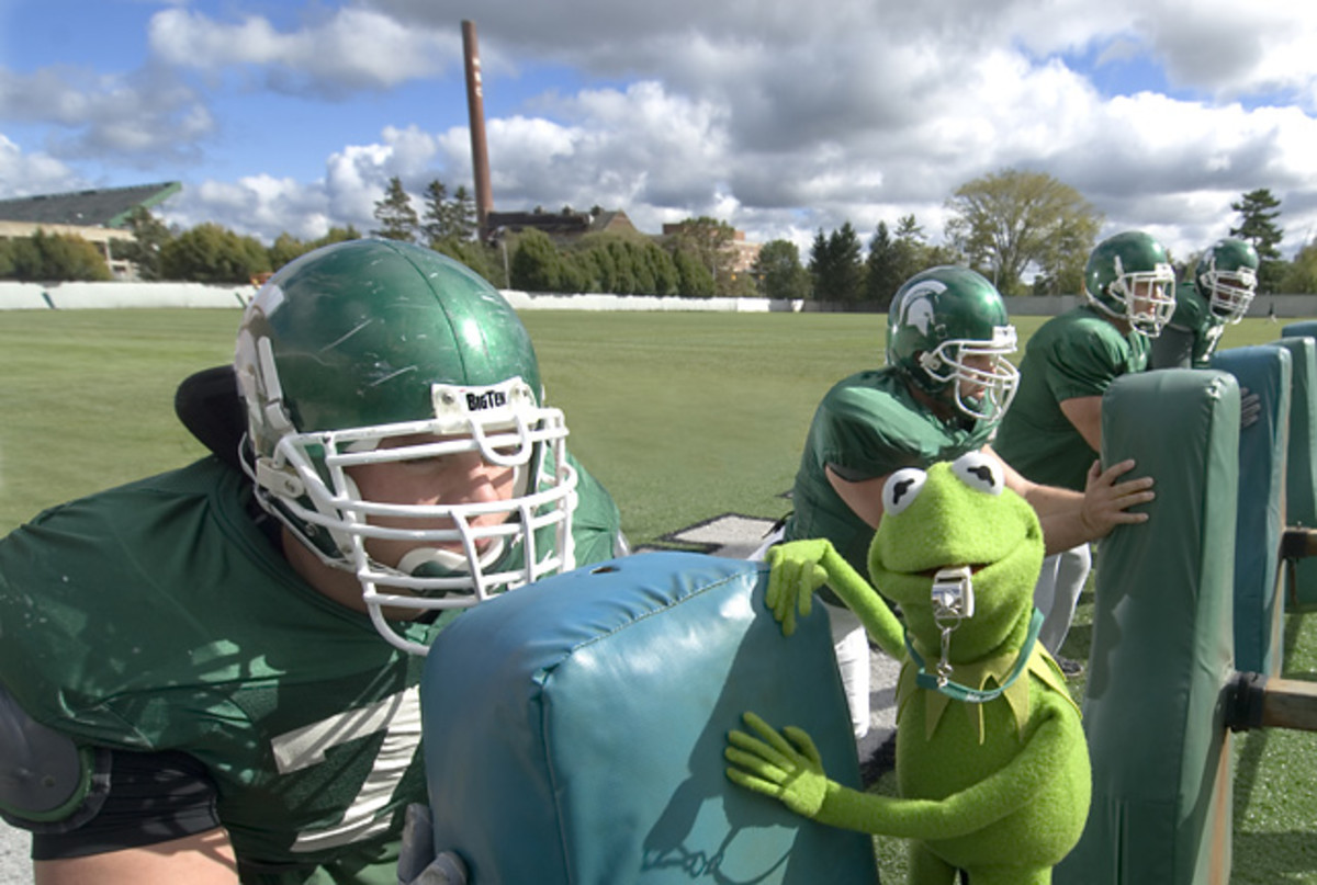 Kermit the Frog and Michigan State Linemen