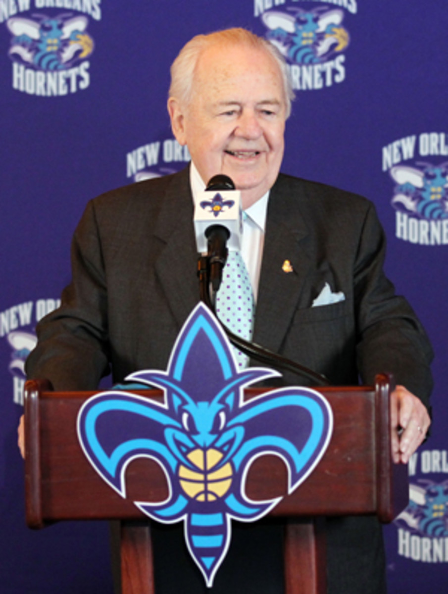 Hornets owner Tom Benson will reportedly change his franchise's name. (Layne Murdoch/Getty Images)