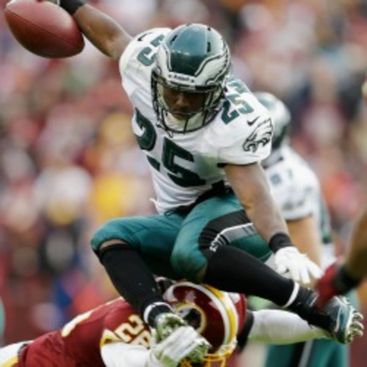 Eagles running back LeSean McCoy will be back on the field Sunday after missing four games. (Bob Carr/Getty Images)