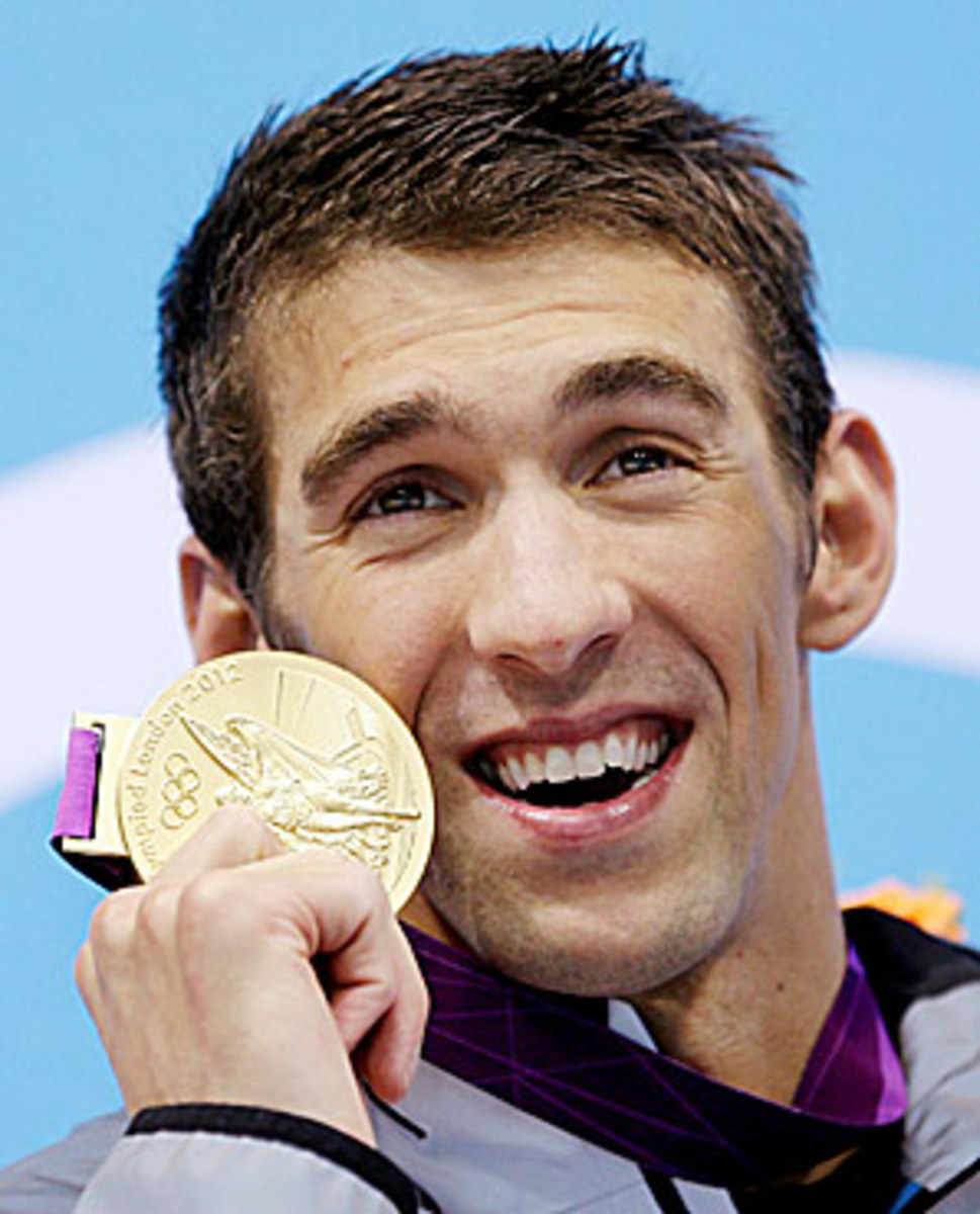 Michael Phelps, who won the AP award for the second time, capped off a golden career.