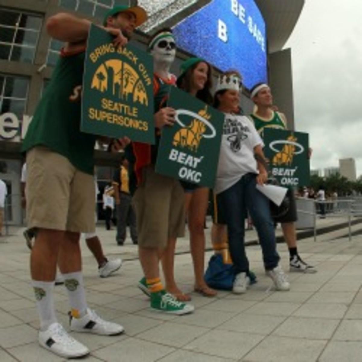 Seattle Supersonics fans