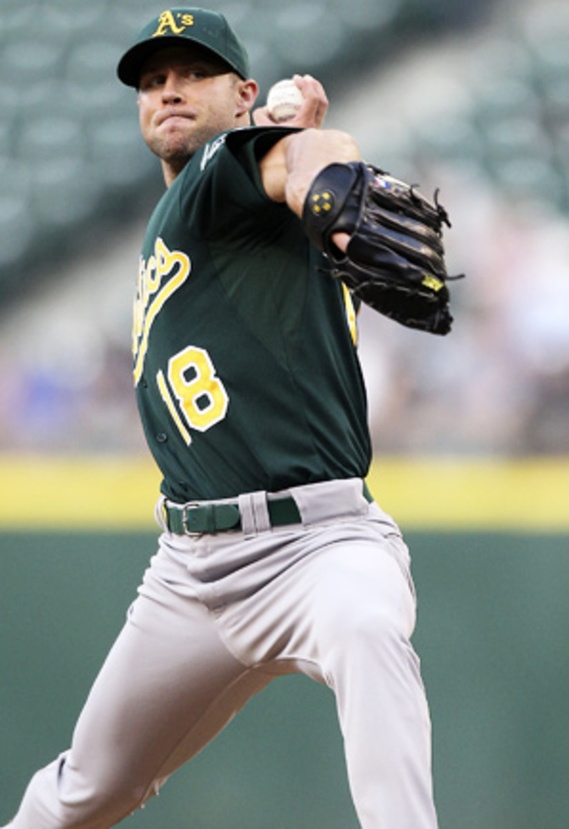 Rich Harden last took the field in 2011 when he was with Oakland.
