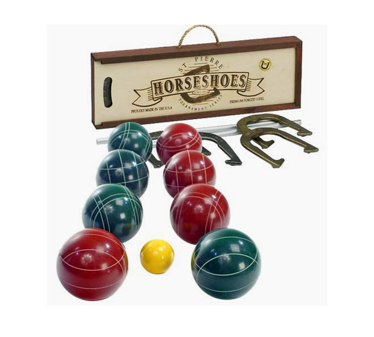 St. Pierre's Bocce Ball and Horseshoes Set