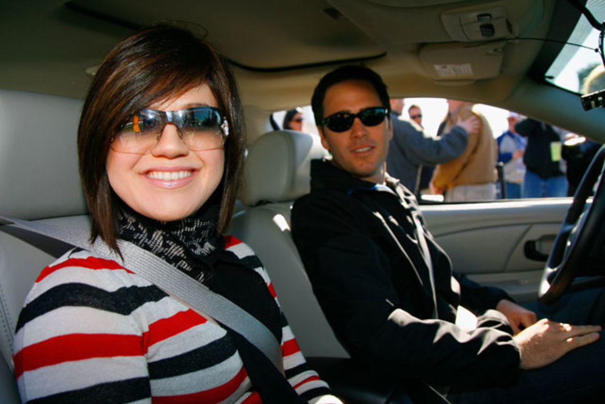 Kelly Clarkson and Jimmie Johnson