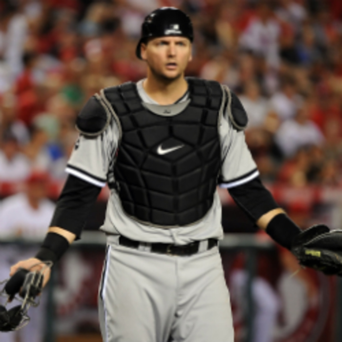A.J. Pierzynski has agreed to a one-year contract with the Texas Rangers. (Lisa Blumenfeld/Getty Images)