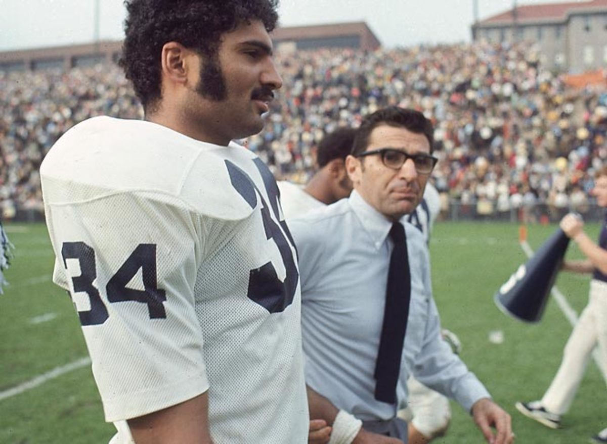 Joe Paterno and Franco Harris
