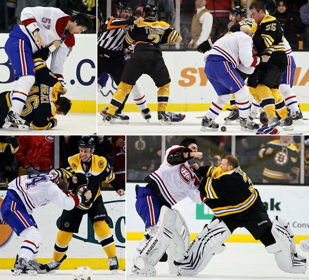 Bruins and Canadiens brawl