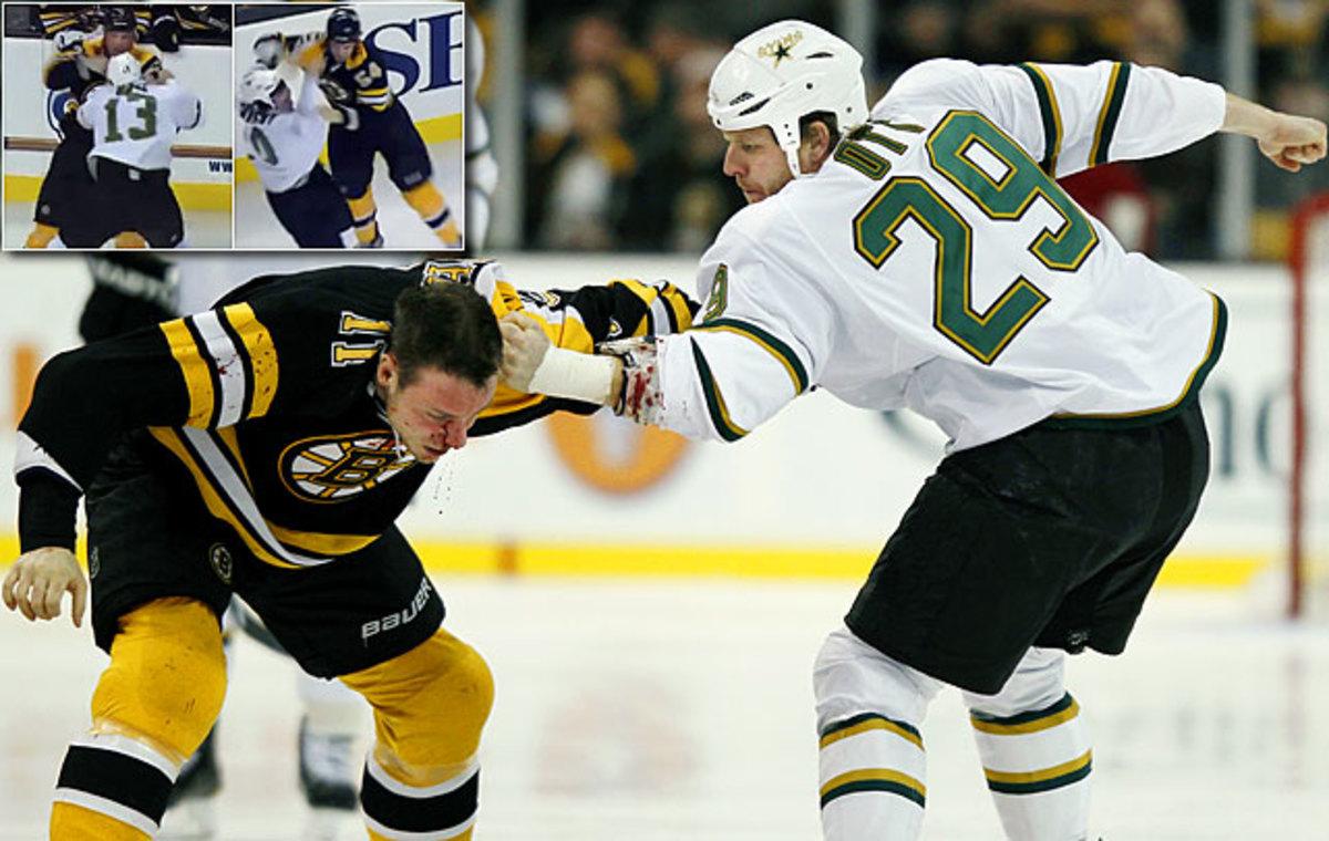Bruins and Stars brawl