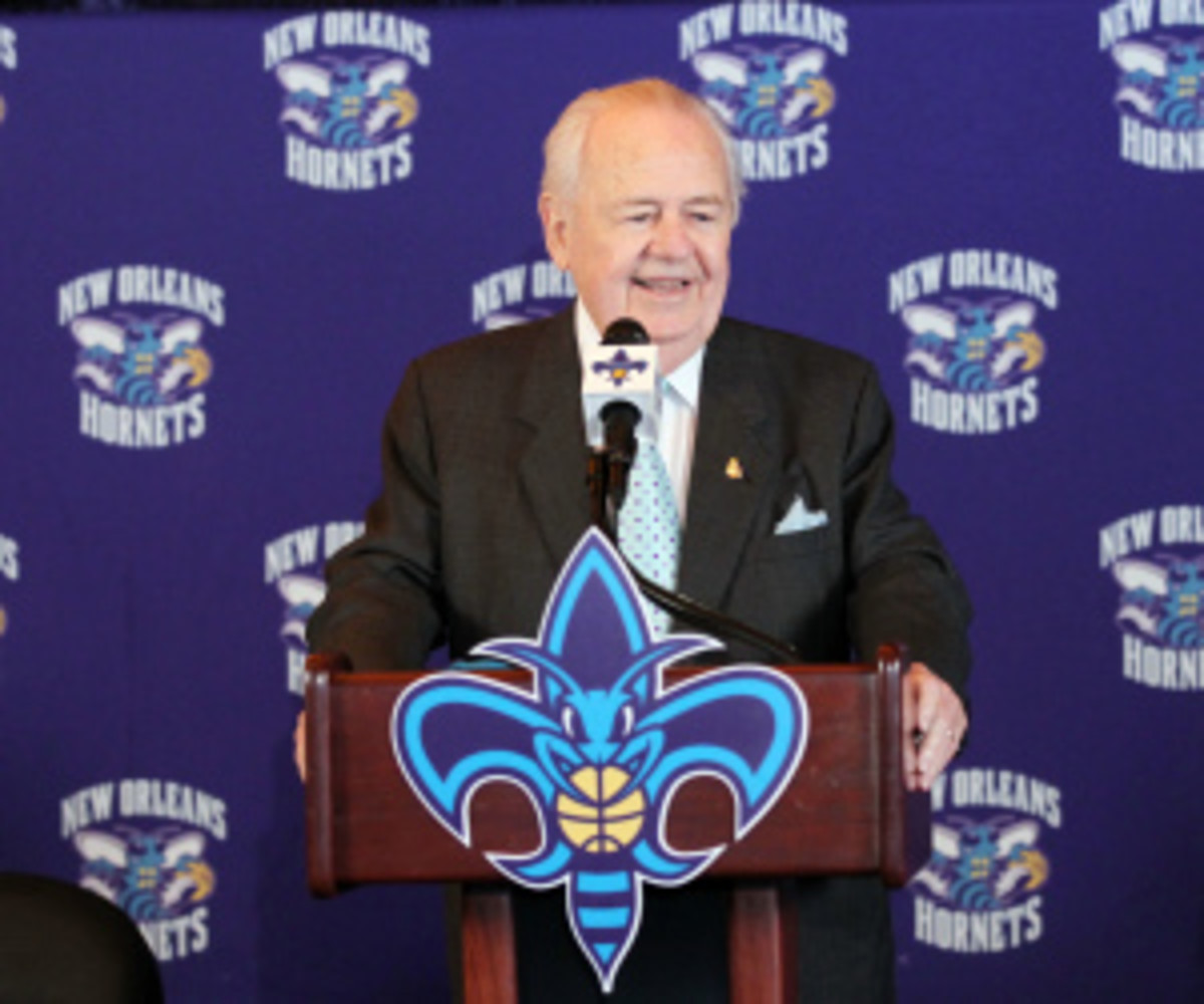 New Orleans Hornets owner Tom Benson might change the team name to the Pelicans, or something else. (Layne Murdoch/Getty Images)