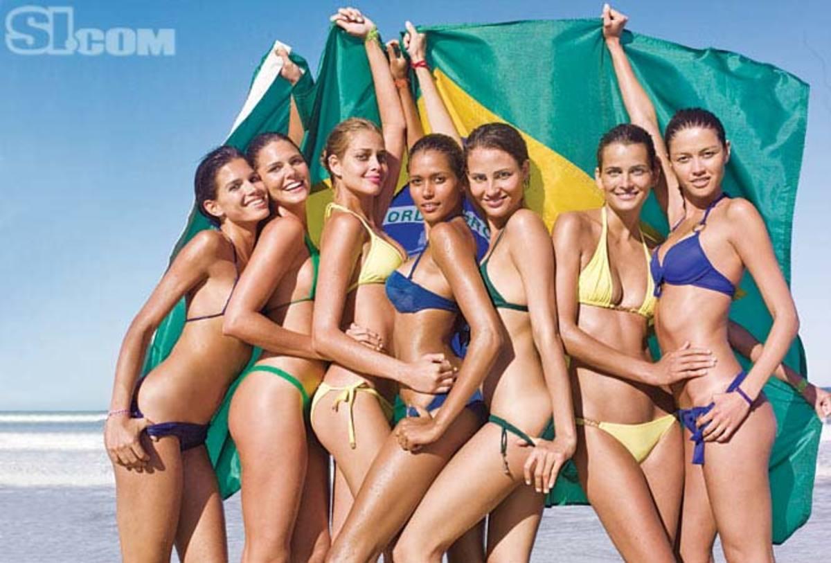 Raica Oliveira, Daniella Sarahyba, Ana Beatriz Barros, Ana Paula Araujo, Fernanda Tavares, Fernanda Motta, and Aline Nakashima
