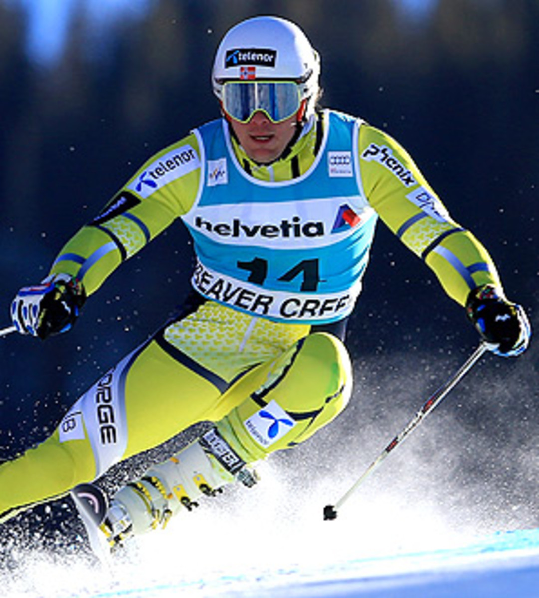Norway's Kjetil Jansrud finished second to Aksel Lund Svindal in the downhill training on the Saslong course.
