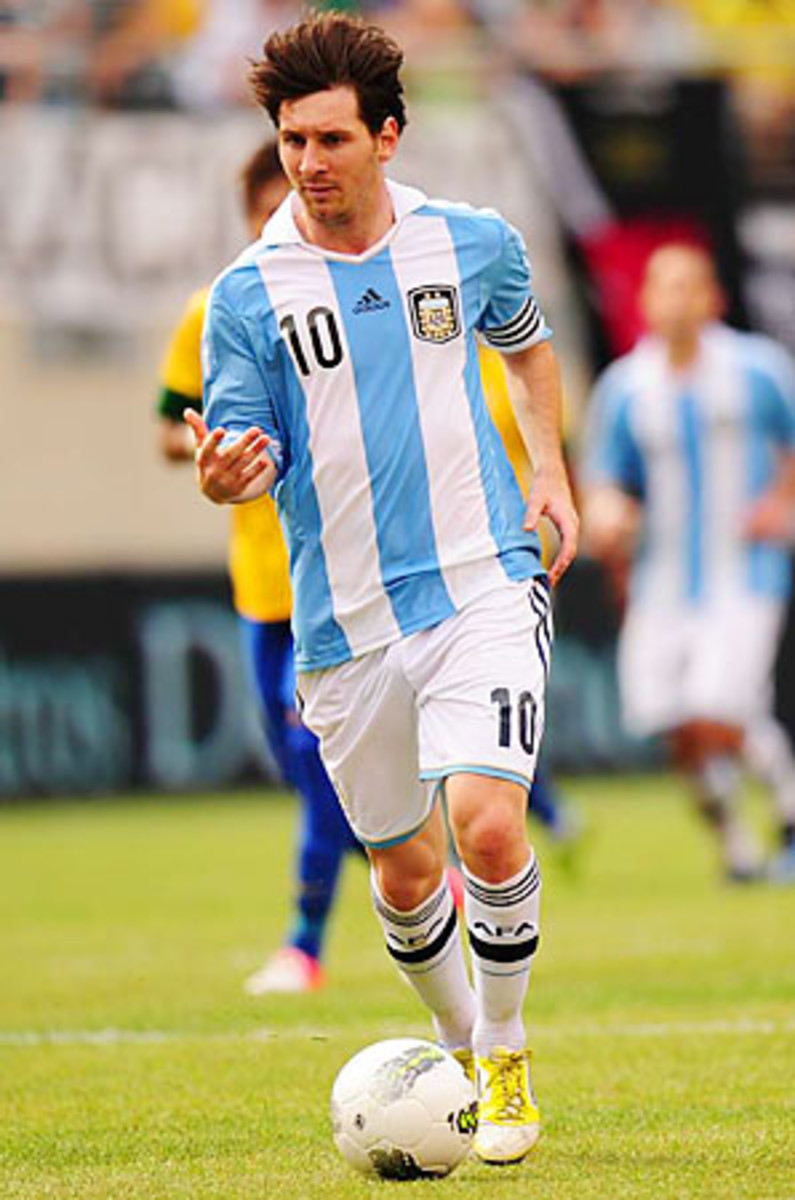 Lionel Messi's year included a hat trick against Brazil at MetLife Stadium.