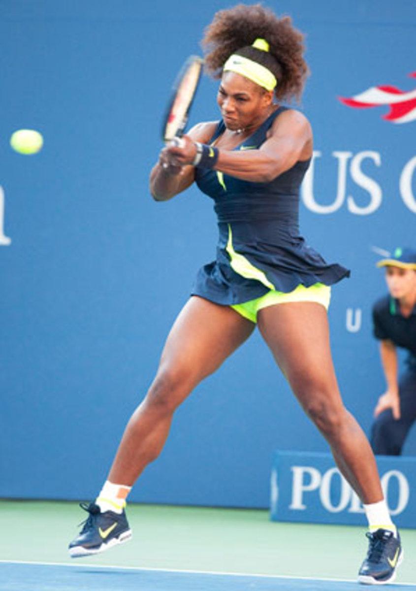 Serena Williams' match against Maria Sharapova in the semis of the 2005 Australian Open ranks No. 23 on Flink's list.