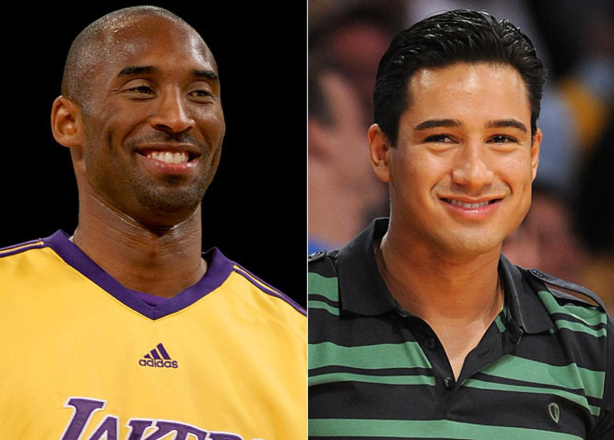 Kobe Bryant and Mario Lopez