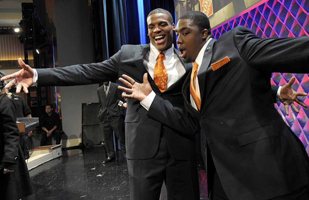 Cam Newton and Nick Fairley
