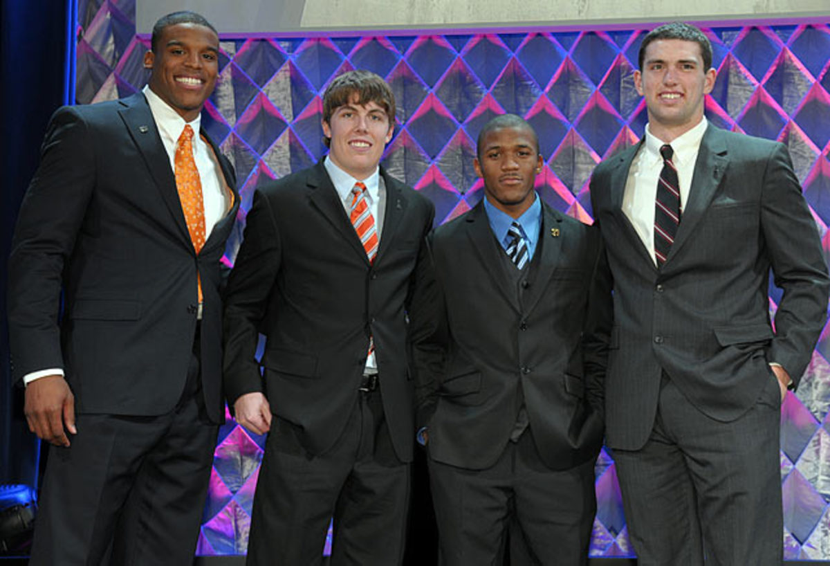Cam Newton, Kellen Moore, LaMichael James and Andrew Luck