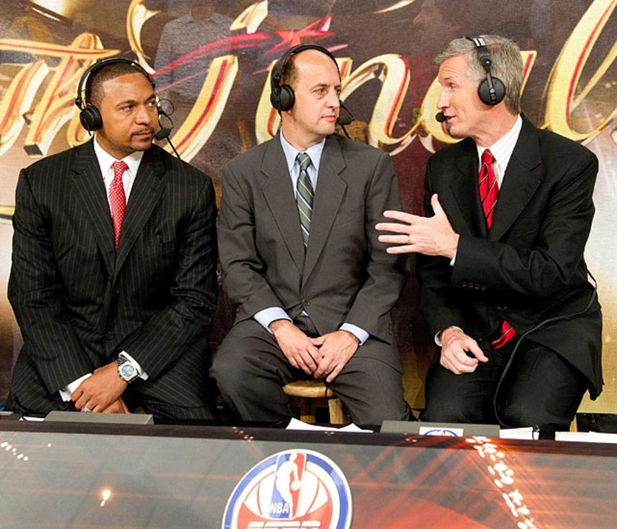 Mark Jackson, Jeff Van Gundy and Mike Breen