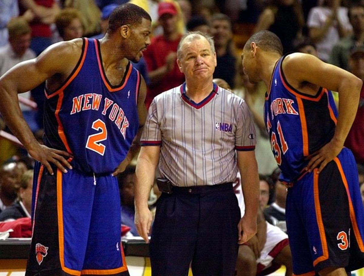 Larry Johnson, Joey Crawford and Mark Jackson
