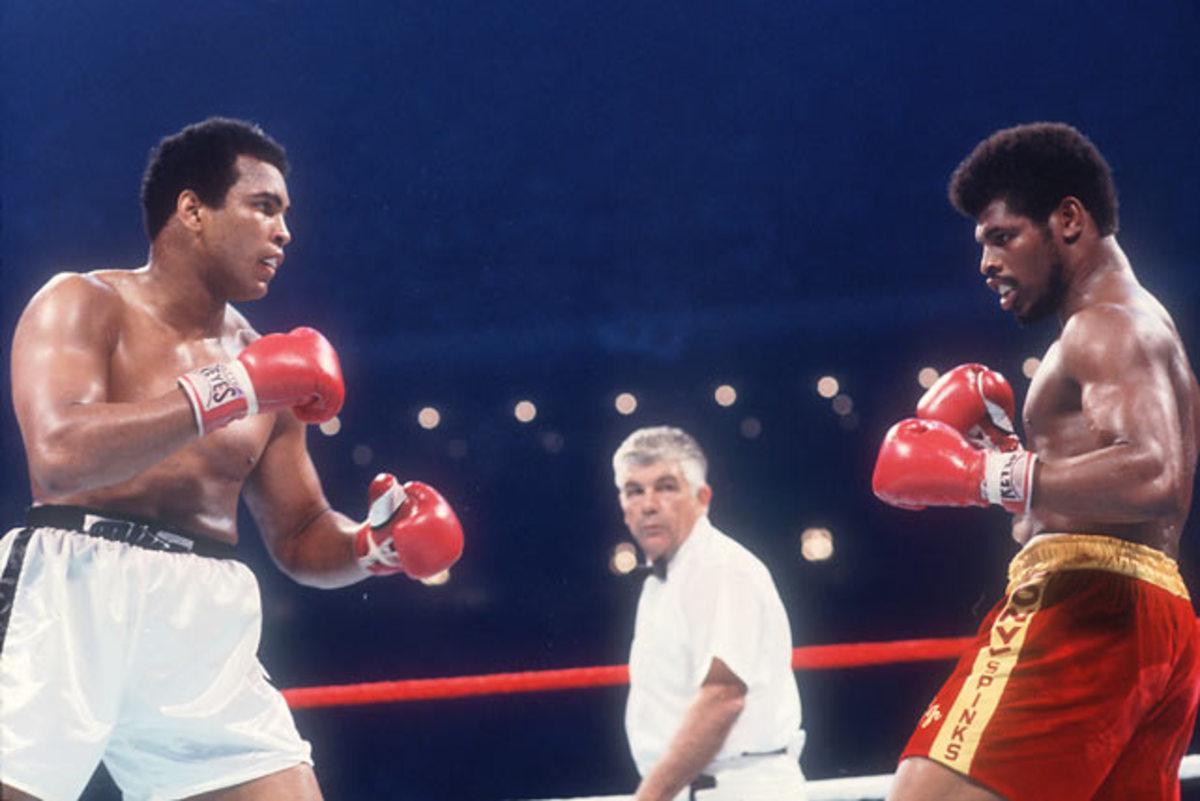 Leon Spinks and Muhammad Ali