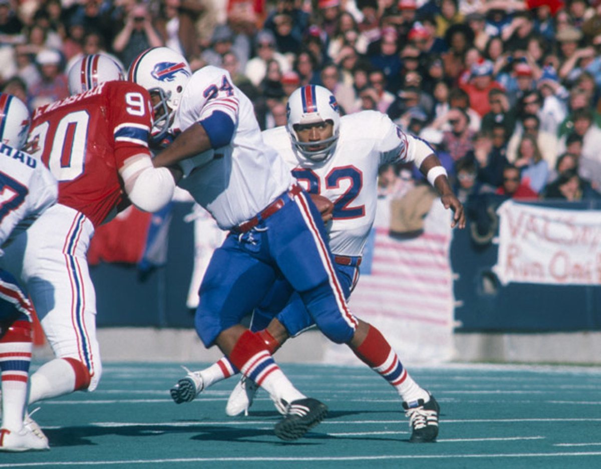 O.J. Simpson: 250 yards, 2 TDs