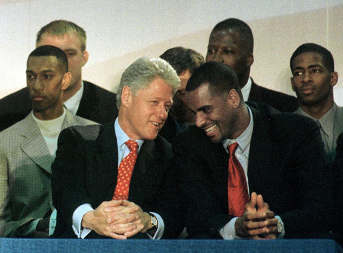 Bill Clinton and Jayson Williams