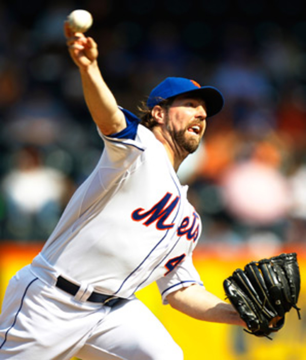 R.A. Dickey's trade to Toronto is contingent on him agreeing to a contract extension.