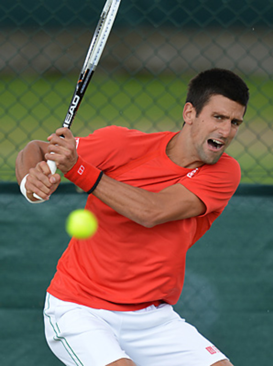 Novak Djokovic is hoping to rebound from his loss to Rafael Nadal in the French Open final.