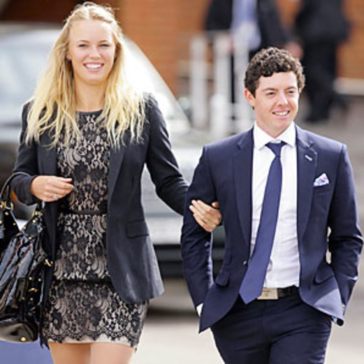 Caroline Wozniacki and Rory McIlroy are not ready to tie the knot -- yet. (Getty Images)