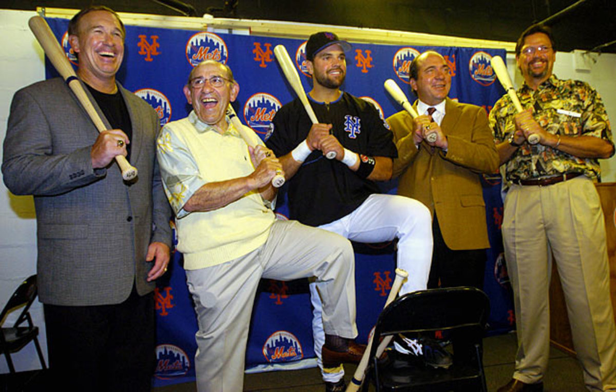 Gary Carter, Yogi Berra, Mike Piazza, Johnny Bench and Carlton Fisk