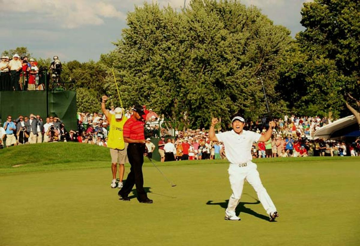 Y.E. Yang def. Tiger Woods