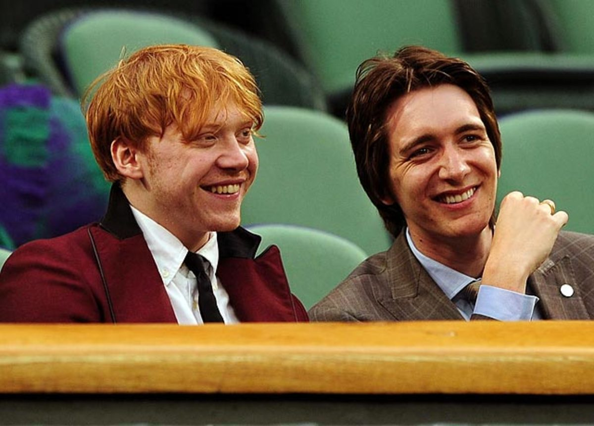 Rupert Grint (left)