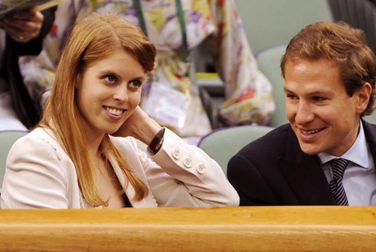 Princess Beatrice with Dave Clark