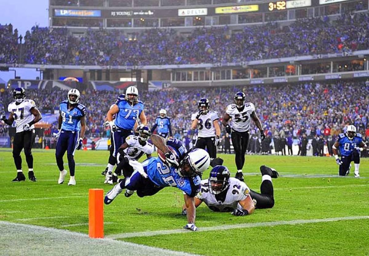 Ravens 13, Titans 10