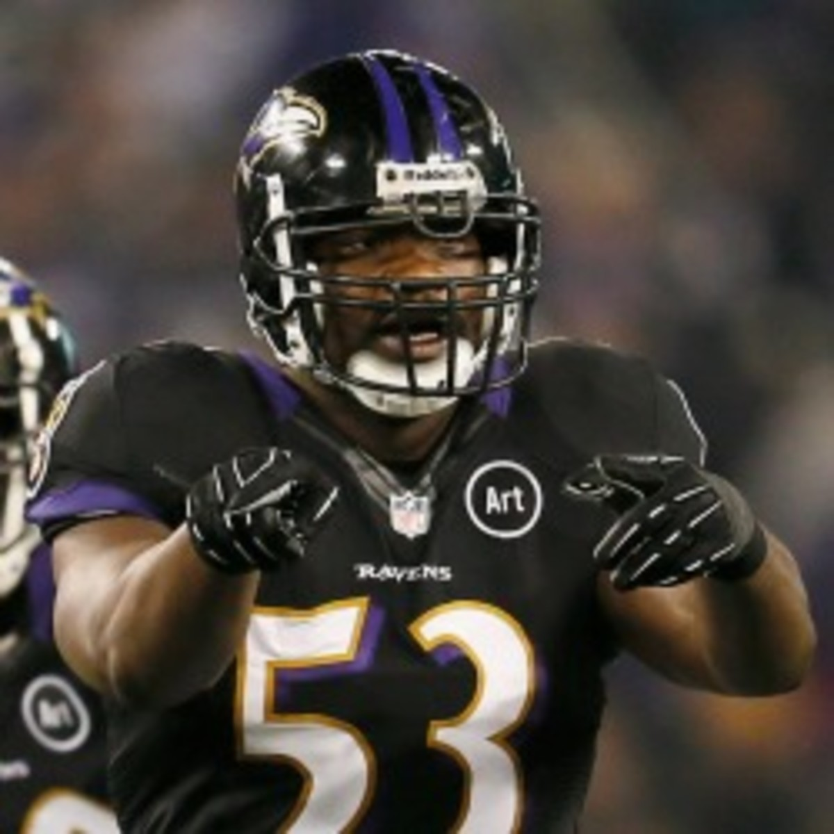 Ravens linebacker Jameel McClain will miss the rest of the season with a spinal injury. (Rob Carr/Getty Images)