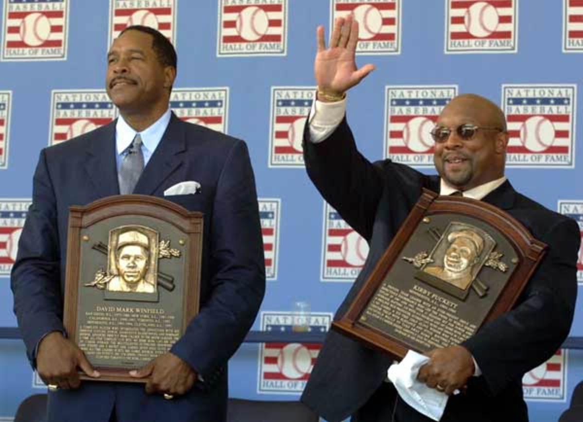 Dave Winfield and Kirby Puckett