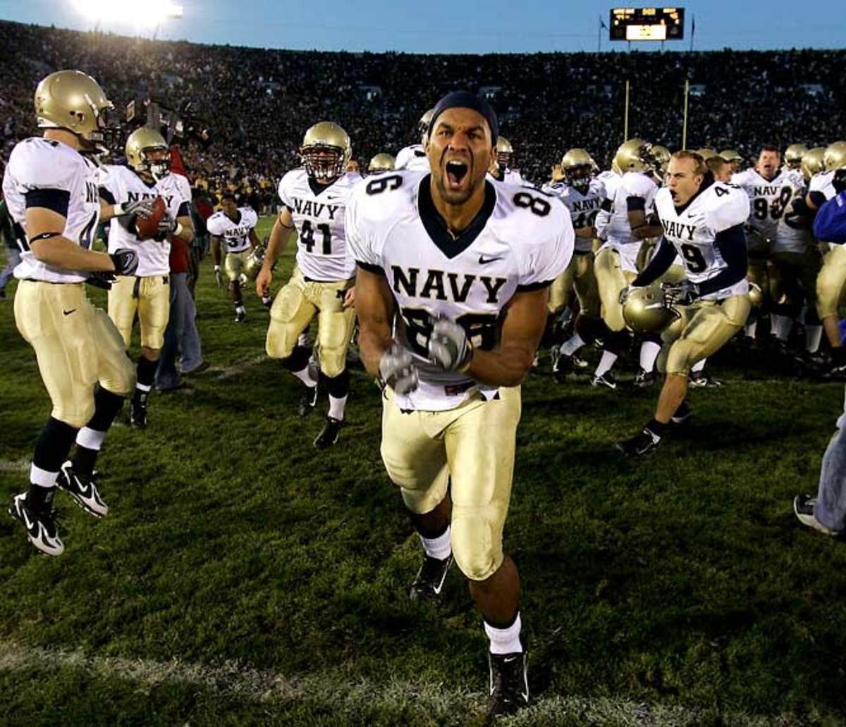 Navy 46, Notre Dame 44