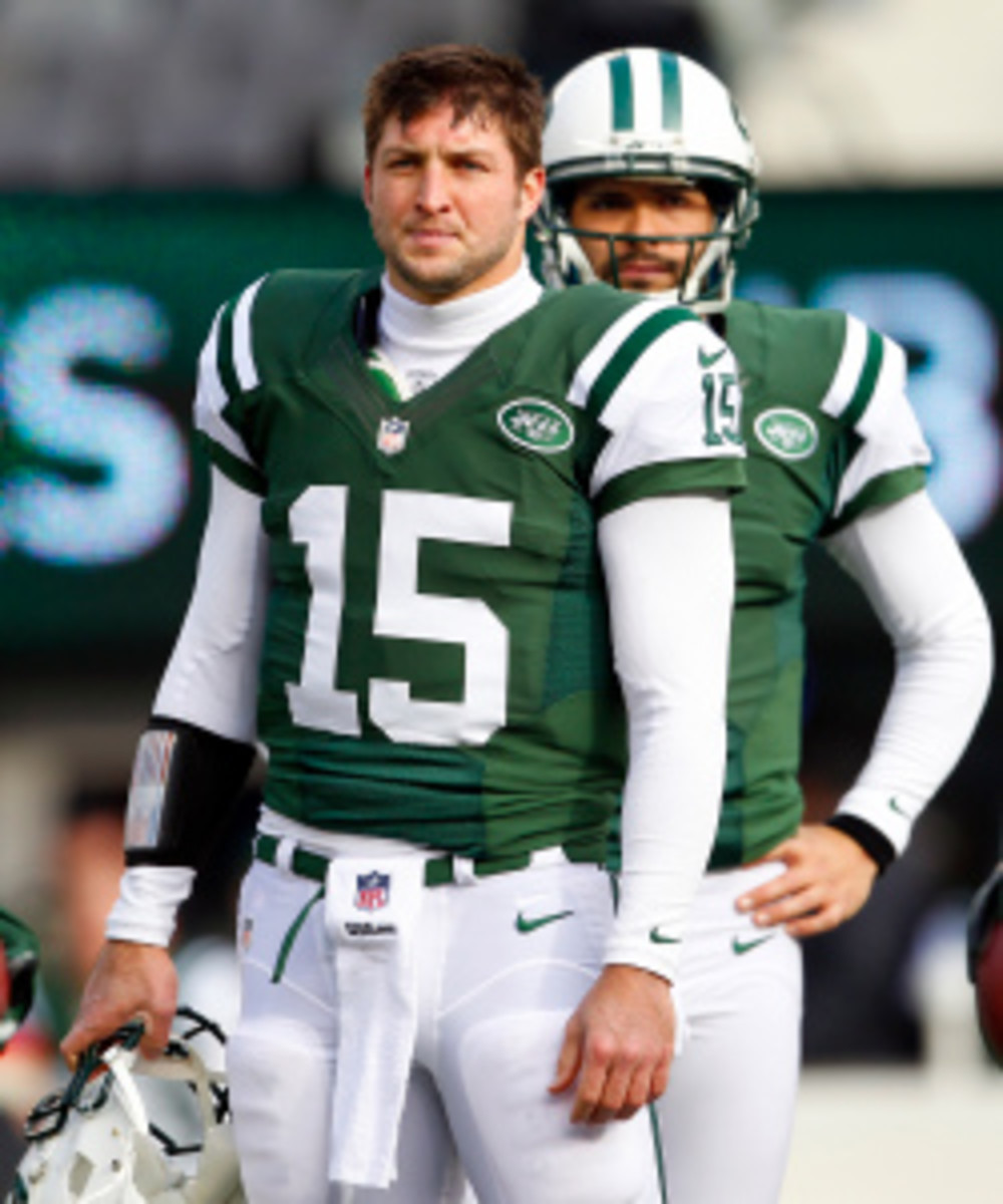 Mark Sanchez will start for the Jets now that Greg McElroy has a concussion. (Rich Schultz/Getty Images)