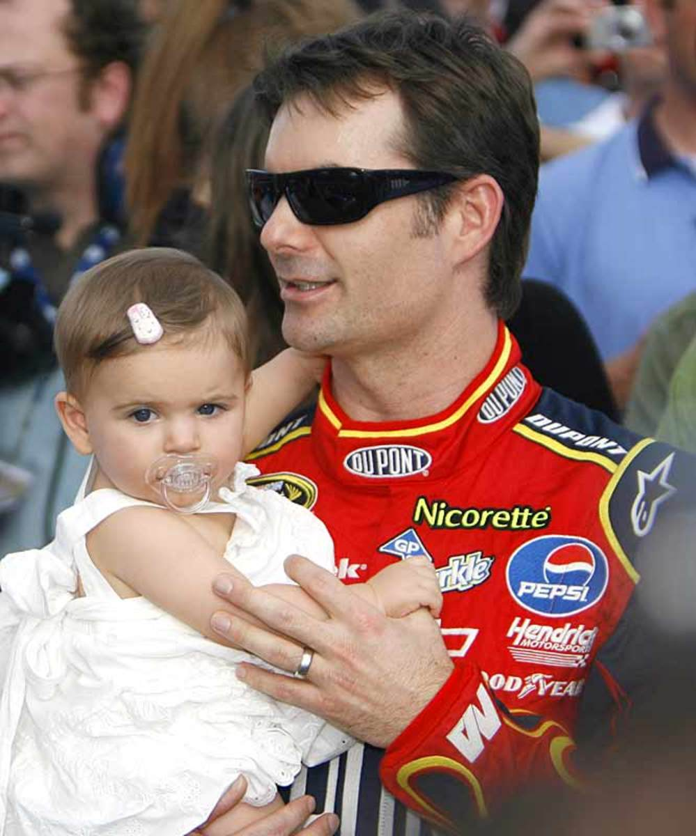 Jeff Gordon with daughter, Sofia