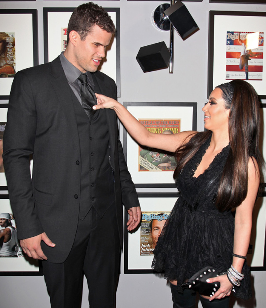 Kris Humphries and girlfriend Kim Kardashian
