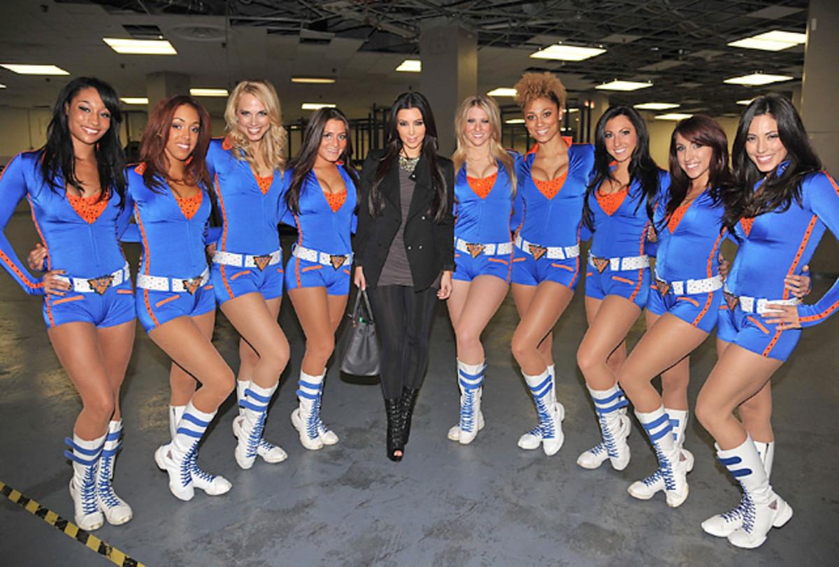 Kim Kardashian and Knicks City Dancers
